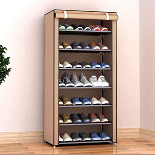 Artículos para el hogar compartiendo múltiples capas Zapato de zapatos Almacenamiento a prueba de polvo Cabinete Dormitorio Dormitorio Pequeño zapato Rack Zapatos de tela Organizar Gabinete