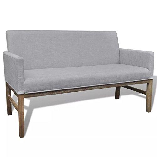 WEILANDEAL bank met kussen bekleed van stof en rubber lichtgrijs hoekbank zithoogte vanaf de vloer: 47 cm