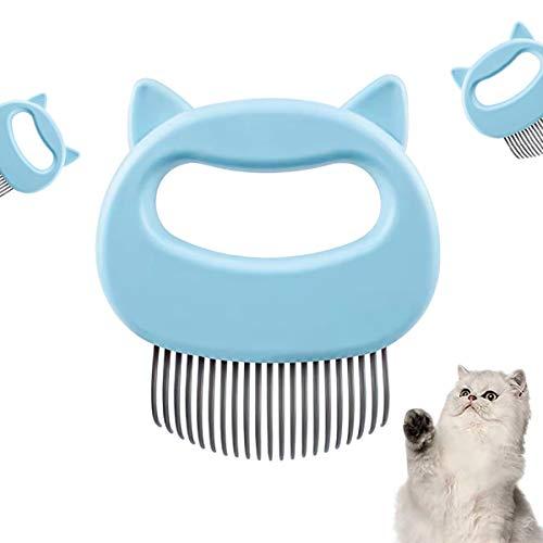 LSLEE Katzen Bürste Kamm, Massieren Bürste Kamm Massagegerät Pet Brush Hundehaarentfernung Open Knot Massage Comb,Massage Grooming Bürste Kamm