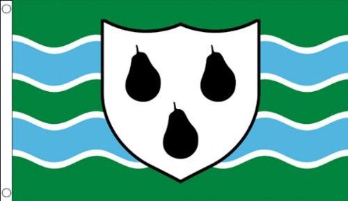5 ft x 3 ft 150 x 90 cm-Neuf Worcestershire Worcester Worcs County 100% Polyester-matière Drapeau Banniere idéale pour Festival bar Club l'activité Décoration de Fête