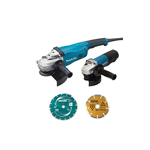 Makita DK0053GX2-P - Juego de 2 máquinas (kit de accesorios) (GA9020 + 9558HNRG)
