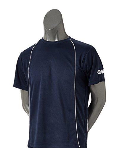 GM Training Wear T-Shirt Homme, Bleu Marine, Petit