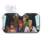 Kaopey Scooby-Doo Windshield Sun Shade Visor Novelly Car Sunshade Windshield Protector Cover Universal