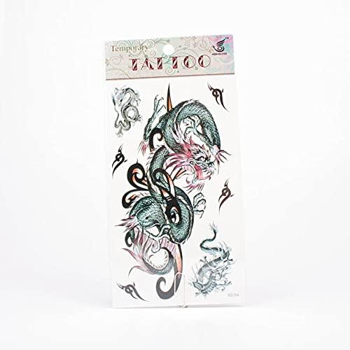 Tattoos grüne chinesische Drachen und Tribals 01-00360