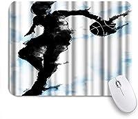 NINEHASA 可愛いマウスパッド バスケットボールをするバスケットボールスポーツフープマン ノンスリップゴムバッキングコンピューターマウスパッドノートブックマウスマット