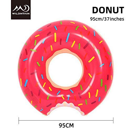 Aufblasbare Seematratze 185cm/71 Schwimmring-Ananas Wassermelone Pizza Donut Pool Erwachsene schwimmende aufblasbare Bett-Donut 95cm