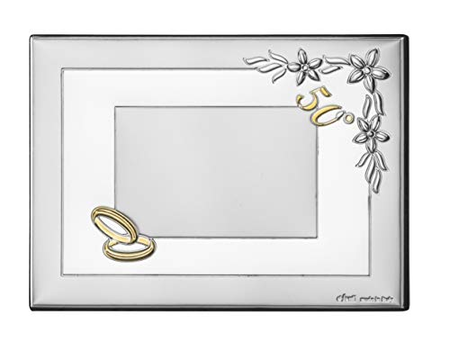 Placa Flores 50º aniv 13x18 Personalizada Bodas de Oro
