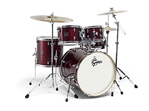 Gretsch Energy Schlagzeug (7-lagige Pappel Kessel, Chrome Hardware, inkl. 5-teiligem Hardwarepaket, Hocker, Doppeltomhalter & Paiste 101 Beckensatz (13