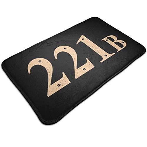 HUTTGIGH 221b Baker Street Sherlock Holmes - Alfombrilla antideslizante para puerta de entrada, alfombra de baño, alfombra de cocina, alfombra de suelo de 19.5 x 31.5 pulgadas, absorbente