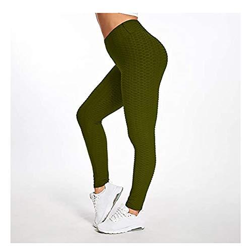 WSC Pantalones Abdominales Texturizados De Mujer con Textura De Mujeres.(Size:L,Color:F)