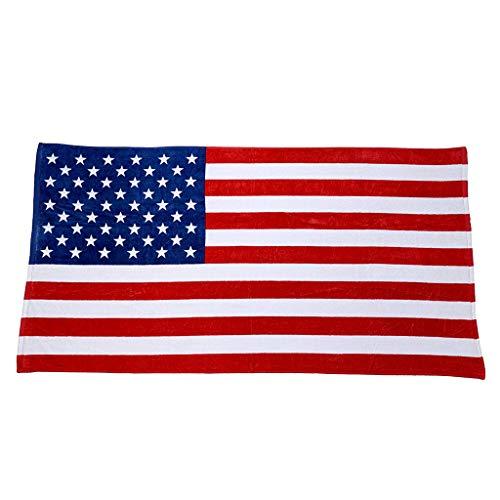 BoomLee American Flag Beach Towel Quick Fast Dry Outdoor Travel Rack Swim Micro Fiber Blanket Yoga Mat (Multicolor)