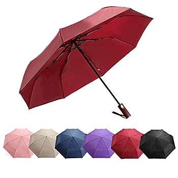 Umbrellas for rain,Auto Color-Changing Umbrella,Multi-Color,Automatically Opens And Closes,Portable Parasol Outdoor Sun&Rain Umbrellas-Rose red