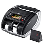 Money Counter Machine Portable, SNAN Bill Counting with UV/MG/IR Counterfeit Bill Detector, Cash Counter with Add/Batch Modes, Dual Displays, Hidden Handle, 1000 Bills/Min - Doesn't Count Bill Value