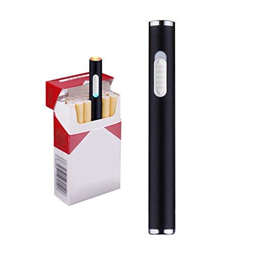 Mini encendedores de cigarrillos USB recargable a prueba de viento sin llama...