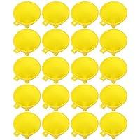 ibasenice ミニロート小漏斗5センチメートル液体漏斗フィルターためlabボトル砂アート香水科学研究所調味料スパイスパウダー漏斗エッセンシャルオイル調味料黄色20個