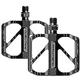 unisoul Pedali Bicicletta,Pedali Bici Flat MTB 9/16', Leggeri Antiscivolo Universali Pedali...