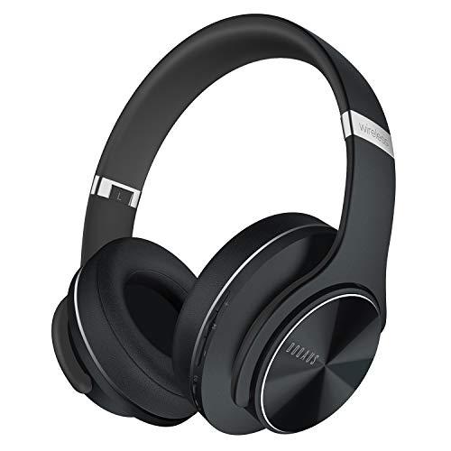 DOQAUS C1 Casque Bluetooth sans Fil, 3 Modes EQ, 52 Heurs de Lecture Casque Audio avec Microphone Intégré, Confortable Cache-Oreilles, Casque Bluetooth pour Cours en Ligne/Téléphone/Tablette/PC
