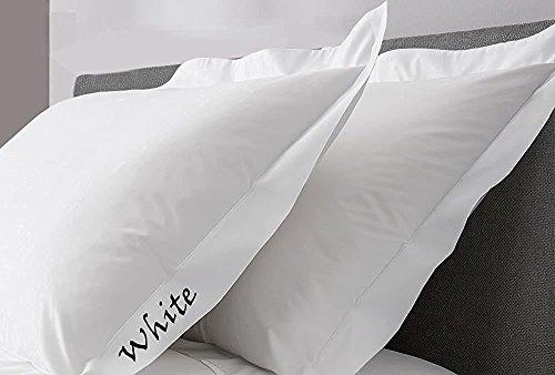 65cm x 65cm 65 x 65 cm Coton blanc blanc Continental Comfort Beddings Lot de 2 taies doreiller 100/% coton /égyptien 450 fils