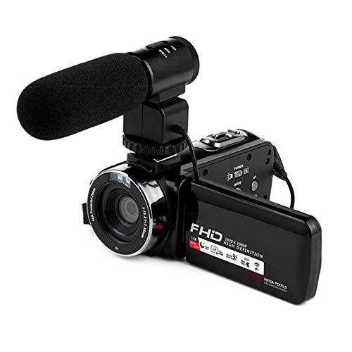 Cámara 4K cámara HD 24.0MP 60FPS Pantalla táctil táctil de 270 Grados y 270 Pulgadas, micrófono Externo y Lente Gran Angular Youtube Vlogging, función WiFi, retardo, visión Nocturna,B
