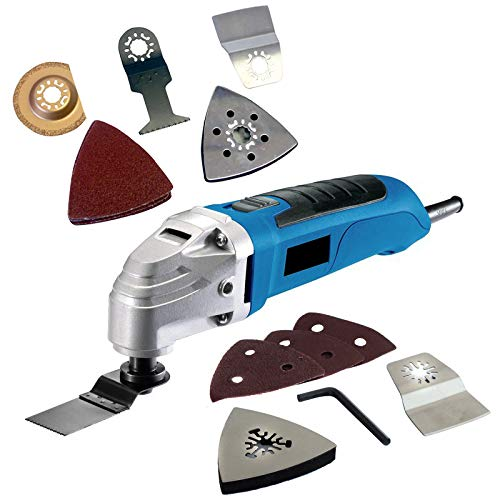 300W Electric Oscillating Multi Function Tool Detail Sander Power Saw & Scraper with 20 Assorted Accessories