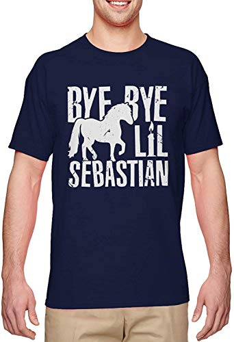 Bye Bye Lil Sebastian Funny TV Show Quote Men's T-Shirt,Navy,Large