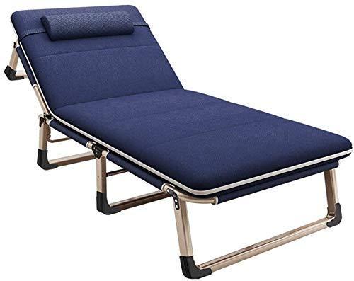 Cama plegable y silla Chaise zéro gravité portátil, pliante inclinable, encendió flexible sieste la oficina iluminada simple simple d'iluminado accompagnement lit de campo de 193x68x30cm portátil (Col