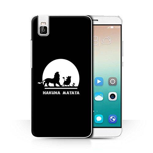 Hülle Für Huawei Honor 7i/ShotX Karikatur Afrikanische Tiere Hakuna Matata Design Transparent Ultra Dünn Klar Hart Schutz Handyhülle Hülle