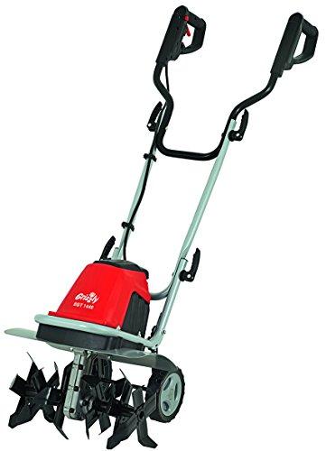 Grizzly Tools Elektro Gartenhacke EGT 1440 1400 W Breite 40cm Elektrische Garten Hacke mit durchzugsstarkem 1400 Watt Motor