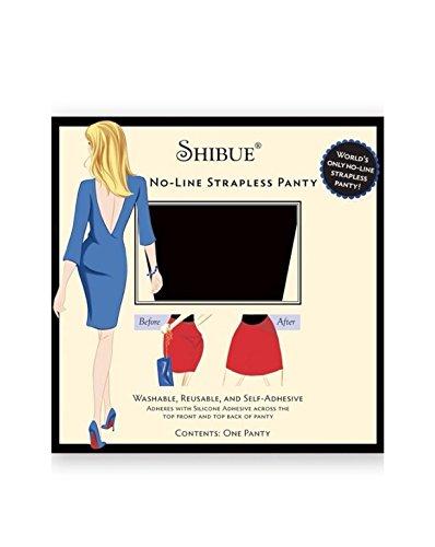 Shibue Couture No-Line Strapless Panty - Farbe schwarz, Größe XS - Selbsthaftender Stringtanga ohne Seitenbändchen