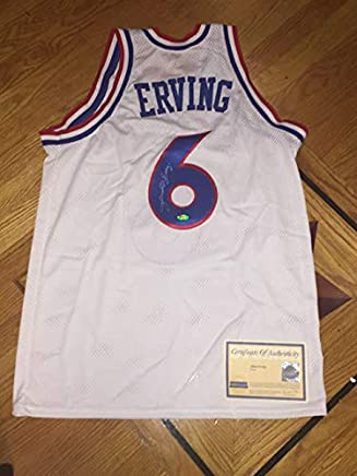 aa4a123bfb34 RARE Julius Dr J. Erving Signed Autographed 76ers Jersey Steiner  Authenticated