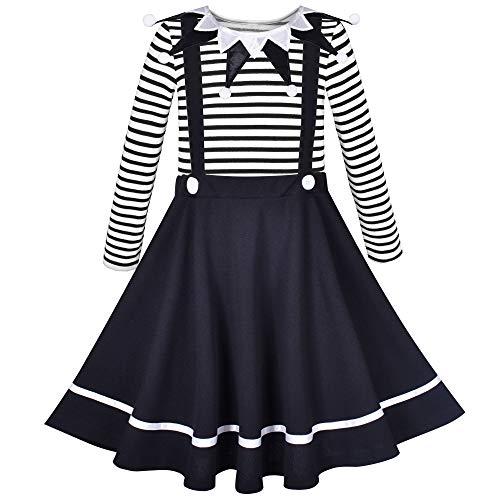 Sunny Fashion Vestido para nia Conjunto Uniforme Escolar Disfraz de Payaso Carnaval Camisa y Falda 6 aos