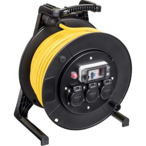JUMBO® L Kabeltrommel mit 3 Steckdosen H07RN-F und FI-Schutzschalter