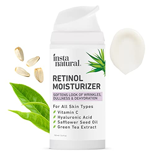 InstaNatural Retinol Moisturizer Anti Aging Night Face Cream - Face & Neck Wrinkle Lotion - Reduce Appearance of Wrinkles, Dark Circles, & Fine Lines - Vitamin C Hyaluronic Acid Complex - 3.4 oz
