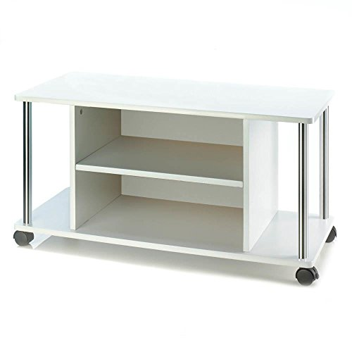 Smart Living Company TV Stand with Wheels, Multicolor