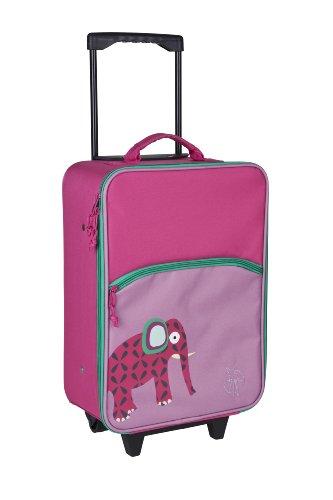 LÄSSIG Trolley Kinderkoffer / Reisekoffer für Kinder Wildlife Elephant
