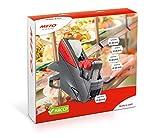 Meto HACCP Kit de etiquetado de mano profesional alimentos/Food 30004658 (2 líneas, 20 dígitos para etiquetas de 26 x 16 mm, listo para usar), 1 juego de etiquetadora de precios, color gris y rojo