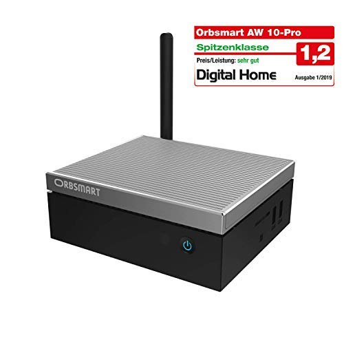 Orbsmart AW-10 Pro 4K Mini-PC Windows 10 Pro Desktop PC/Computer lüfterlos (Intel Gemini Lake J4105 CPU, 4GB DDR4-RAM, 64GB int. Speicher, 2.5