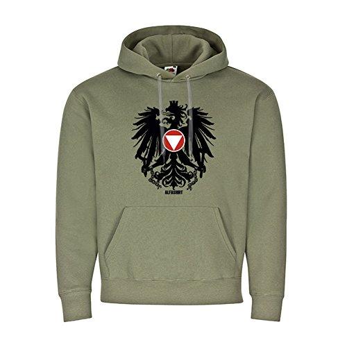 Bundesheer Österreich Adler JaKdo Wappen Abzeichen Alpen Hoodie #19755, Größe:M, Farbe:Oliv