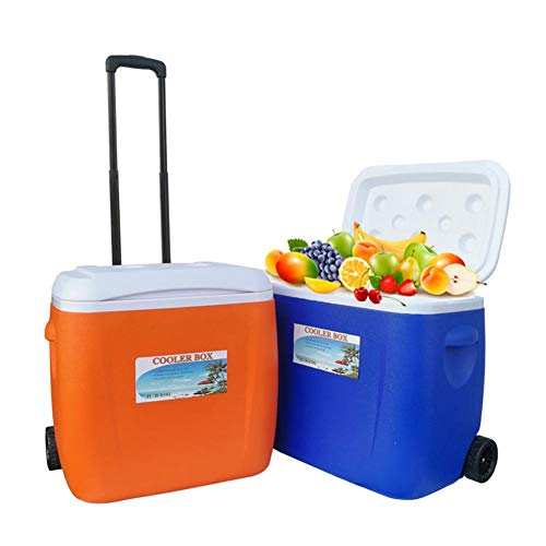 Cajas de enfriadoras súper grandes - Estilo de caja con ruedas - Cubo de hielo 28 / 38L para contener/conservar alimentos - Fácil de mover; Duradero por mucho tiempo