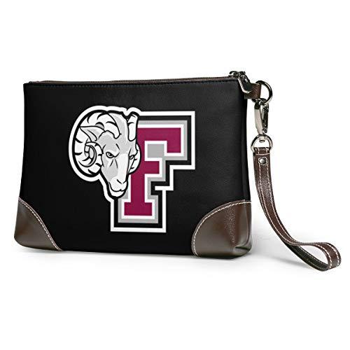 Hundebett mit Ziegenkopf, weich, rutschfest, luxuriös, erhältlich in verschiedenen Ausführungen, Pink - Logo der Country and Fordham University - Größe: Einheitsgröße
