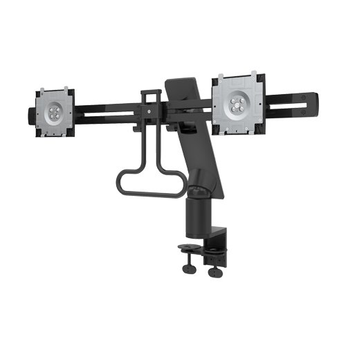 DELL MDA17 Adjustable Desk Mount 12cm Dual Monitor Arm for 27' 2 x LCD Displays - Black
