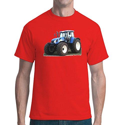 Im-Shirt Traktoren Unisex T Traktor New Holland T7 by Rot XL