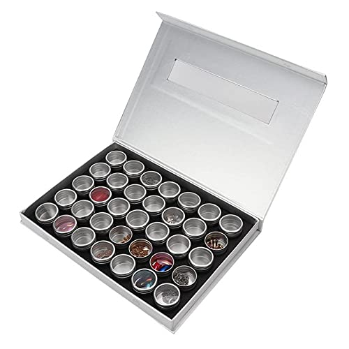 Caja de almacenamiento de uñas postizas Caja de diamantes de imitación conveniente para uso doméstico para artistas de uñas(35 bottles + gift box)