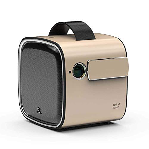 WSMLA Teléfonos Inteligentes portátiles de vídeo proyector 1080P de Pantalla admitido Horas LED compatibles con TV Box/Ordenador portátil for el hogar Entretenimiento Mini-proyección del proyector p