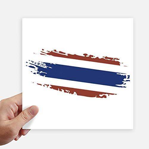 DIYthinker Thaise Bangkok Thailand Vlag Art Illustratie Vierkant Stickers 20Cm Muur koffer Laptop Motobike Decal 4 Stks