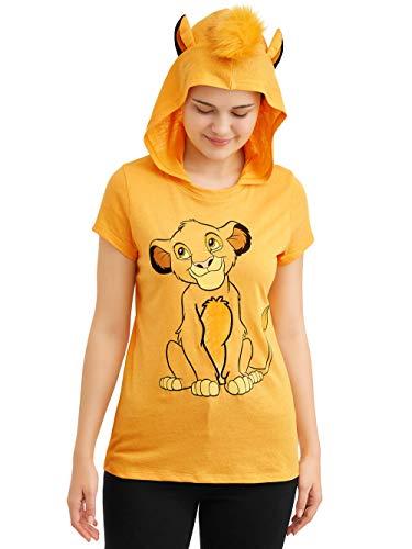 Disney Roi Lion Simba Juniors à Capuchon' T-Chemise (7-9) Moyenne