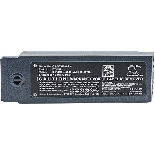 Batterie de scanner de code à barres La batterie de scanner de codes à barres Li-ion 5000mAh / 18.50Wh 3.7V compatible pour Vocollect convient aux piles rechargeables du modèle A700 / A710 / A720 Batt