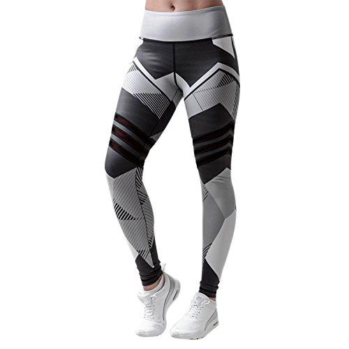 Libertepe Legging Pantalon Sport Femme Yoga Fitness Gym Pilates pour Randonnée Camping (FR38-40(tag sizeL), Noir)