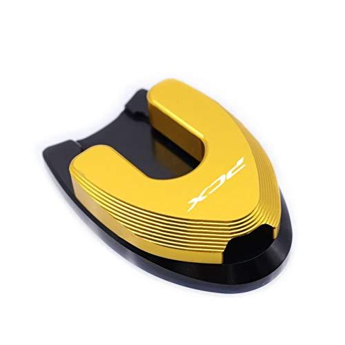 para HO-ND-A PCX 125 PCX 150 PCX125 PCX150 2018 2019 Motorcycle Kickstand Sidestand Stand Extension Ampliar Pad Hot Hot Hot Soporte Lateral para Motocicleta (Color : Gold)
