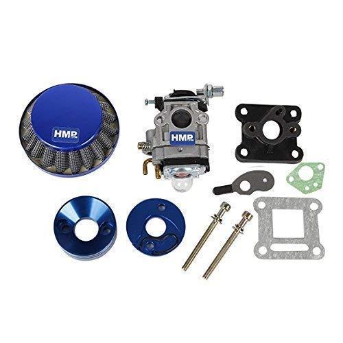 HMParts Pocket Bike Mini Cross Tuning Vergaser - Set 47/49 CCM 15 mm blau